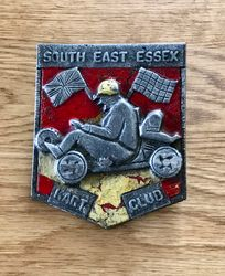 South East Essex Kart Club Car badge. They raced at RAF Debden kart track