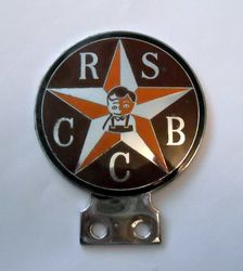 RADIO STATION BROADCASTERS CAR CLUB BADGE Belong to a Robin Richards BBC commentator of motorsport