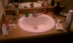 Bathroom sink before