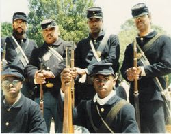 The African-American Union troops at Roaring Camp, California, May 1992
