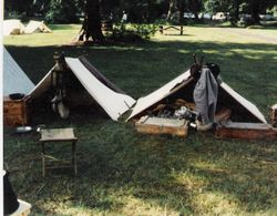 The 4th Texas camp at McIver Park, 1992