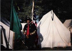 The NCWC's General Custer lookalike, Ft. Stevens, 1993