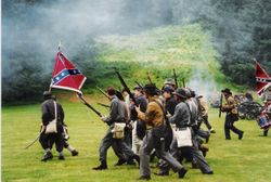 The 4th Texas charging in battle at Silver Falls, 1993