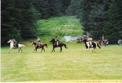 The 9th Virginia Cavalry charging at Silver Falls, 1993