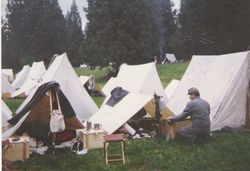 The 4th Texas' camp, McIver Park, 1994