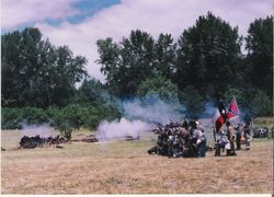 The 4th Texas in battle at Willamette Mission, 1994