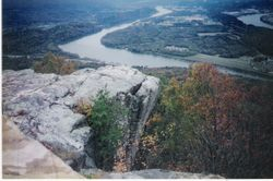 The famous rock at the top of Lookout Mountain