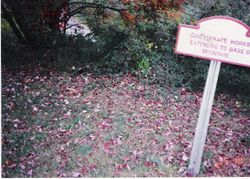 What is left of the Confederate earthworks on Lookout Mountain