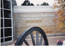 The Chicka mauga Battlefield Visitor Center at Chickamauga, Georgia