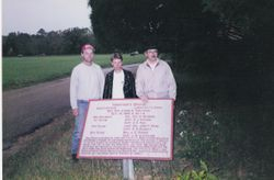Timm Turner, me and Lee Rainey standing behind a Texas Brigade marker at Chickamauga