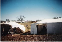 A few of the Sutler tents at Spring Hill