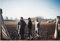 Timm Turner, Tim Rentz, and Michael Bosshardt, heading up to the sutlers' at Spring Hill