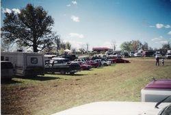 Reenactor parking at Spring Hill