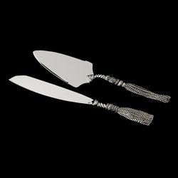 Silver Plated Tassel Design Cake Server Set