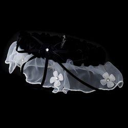 Dainty Black Trimmed Garter