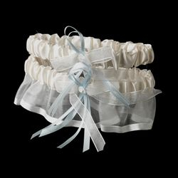 Ivory with Blue Garter