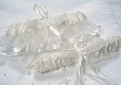 Bridal Garter Set (Ivory Blue or White Blue)