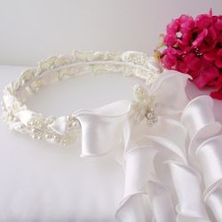Ivory Pearl Child's Wreath