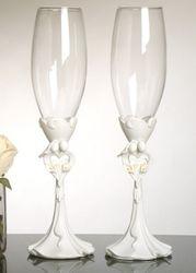 Bride & Groom Wedding Toasting Champagne Flutes