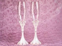 Pink Princess Wedding Toasting Flutes
