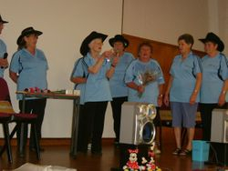 Feilding Presenting Pat a gift on their 5th Birthday