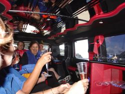 Cookies & Pink Champagne in a Pink Hummer