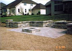 Wall, Patio and Fire Pit