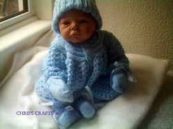 Blue Knitted Set 18-22 newborn