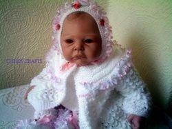 White ribboned set 18-22 newborn
