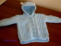 Blue baby bear jacket size from 16-20 inch