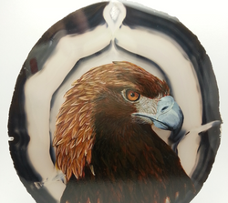 Eagle for Pam on Agate