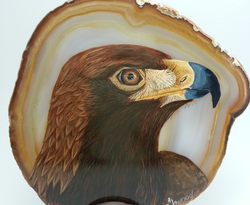 Eagle for Ian on agate