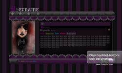 Gothic Lolita Violet Layout