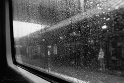 Train Journey on a Rainy Day