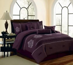 DHF Collectible 7 Piece Embroidery Comforter Set
