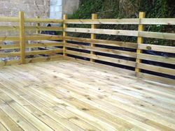 16sqm Raised decking