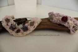 Handmade crochet bun garland