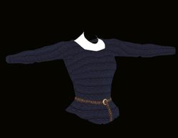 Female Blue Sweater Model