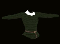 Female Green Sweater Model