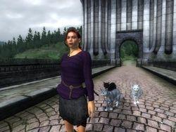 Female Purple Sweater In-Game