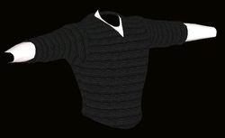 Male Grey Sweater Model