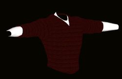 Male Red Sweater Model