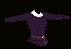 Female Purple Sweater Model