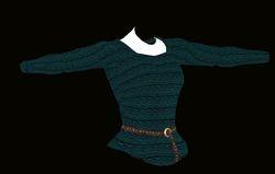 Female Teal Sweater Model