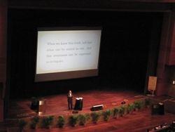 Speaker presenting at Plenery Hall, KLCC