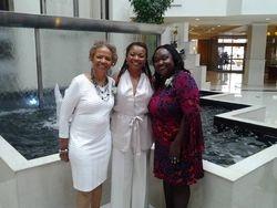 Pastor Mary Cooper, Sister Sonja Poitier, and Pastor Glenda Bailey