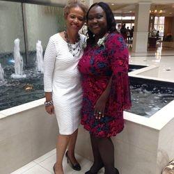 Pastors Mary Cooper and Glenda Bailey