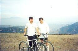 Dr Mike and me Mtn Biking in Laguna Beach