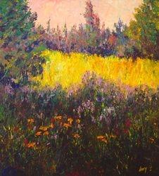Wild Meadow 1 40x36 $3200 acrylic