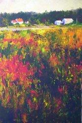 Fireweed Morning 36x24 acrylic $2350